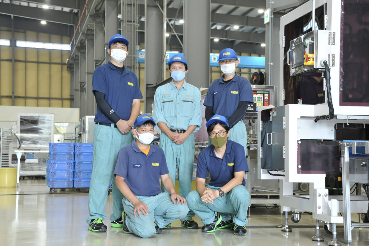 State of staff at food manufacturing factory